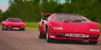 Видео: Lamborghini Countach против Ferrari Testarossa