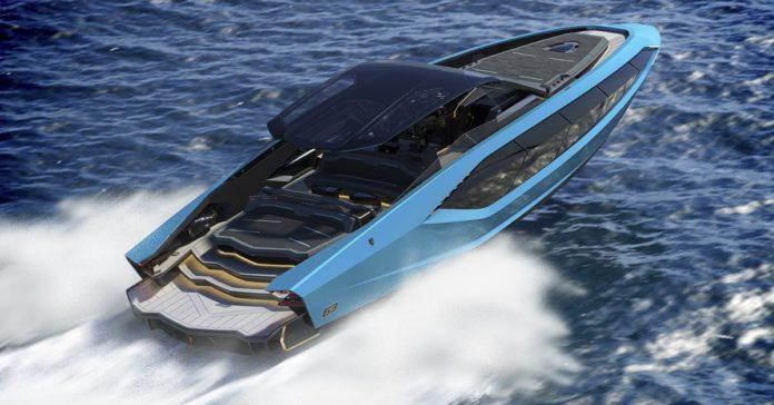 Представлен катер в стиле супергибрида Lamborghini Sian