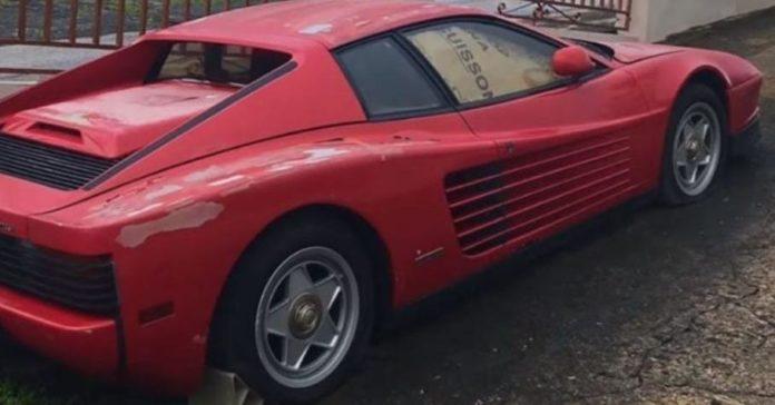 Забытый на 17 лет Ferrari Testarossa продают за 2,2 миллиона рублей