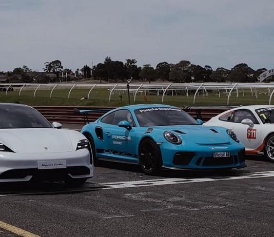 Видео: Porsche Taycan сразился на гоночной трассе с хардкорными 911 GT3