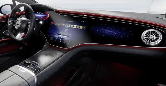Mercedes-Benz раскрыл салон EQS — электрического аналога S-Класса