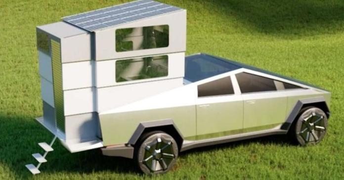Для Tesla Cybertruck придумали очень компактный жилой модуль. Его можно сложить в кузов