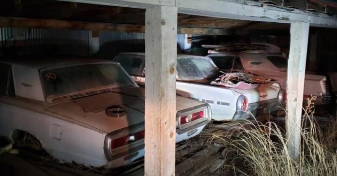 Ржавые Ford Thunderbird и Lincoln Continental, брошенные в гараже на полвека, продают по цене новых айфонов