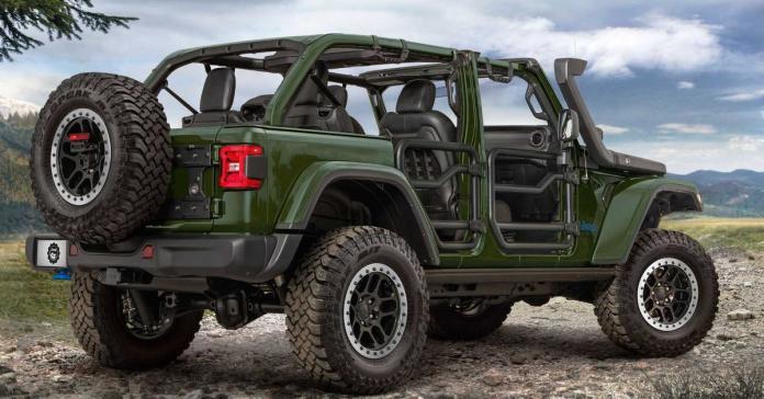 Гибридный Jeep Wrangler 4xe получил заводской лифт-комплект