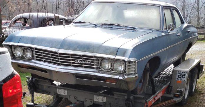 Девушка выкинула Chevrolet Impala своего парня, пока он был в командировке
